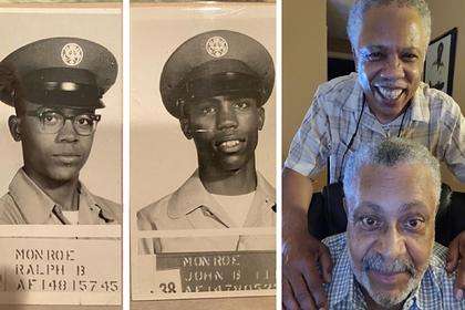 Братья сделали снимки с разницей в 60 лет и удивили пользователей одной деталью