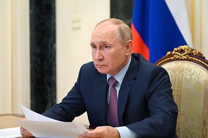 Путин назвал причину лесных пожаров и наводнений в России