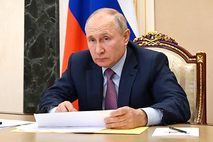 Путин на совещании вызвал министра к себе в Кремль