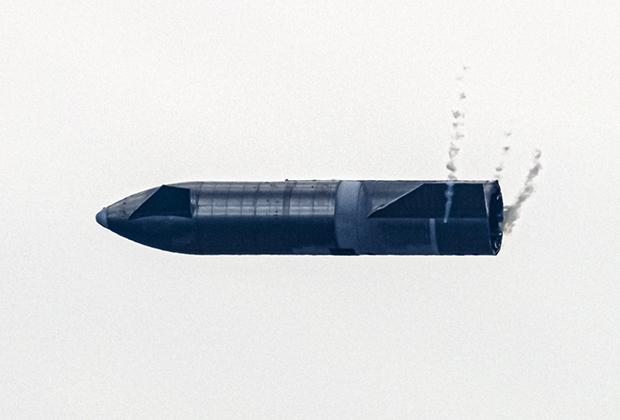 Маневрирование прототипа космического корабля Starship