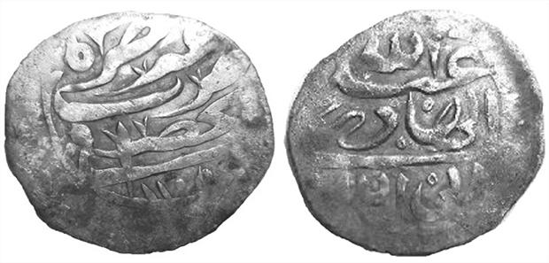Йеменская монета, найденная Джеймсом Бейли