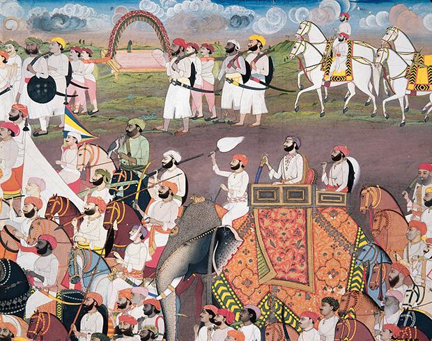 Королевская процессия в Империи Великих Моголов