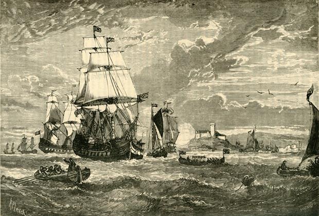 Флот Ост-Индской компании покидает Британию
