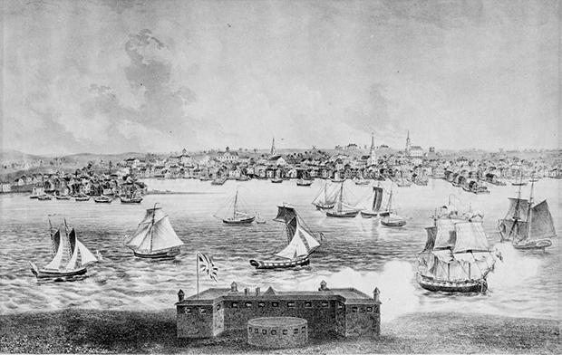 Ньюпорт в 1730 году