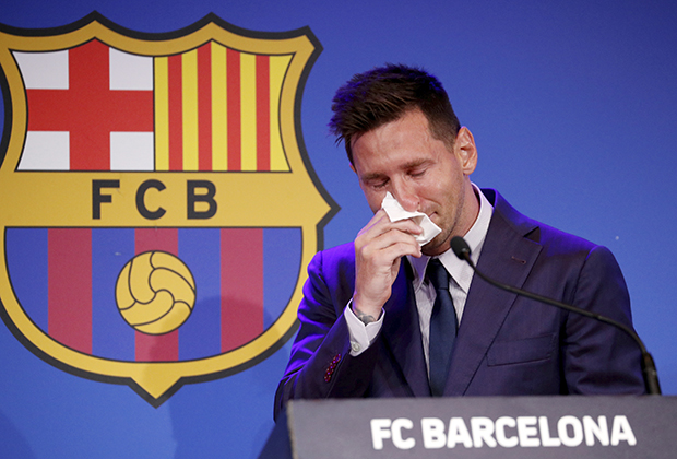 Лионель Месси на прощальной пресс-конференции в Барселоне