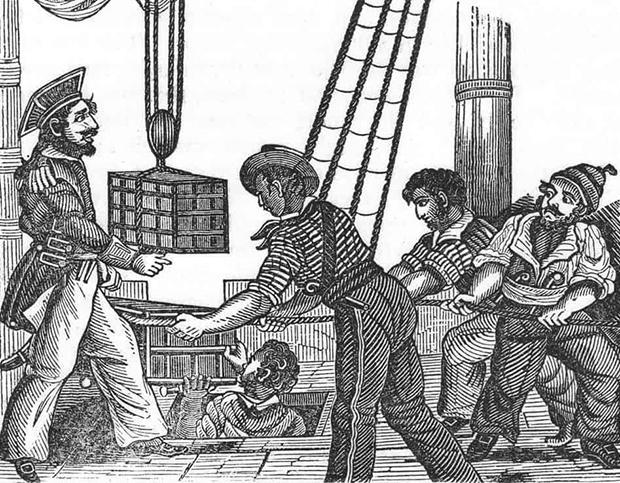Генри Эвери и его команда делят добычу