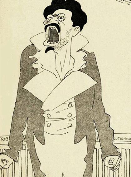 «Московский художественные театр — господин Троцкий в роли Дантона». Нидерландский плакат. Октябрь 1927 года