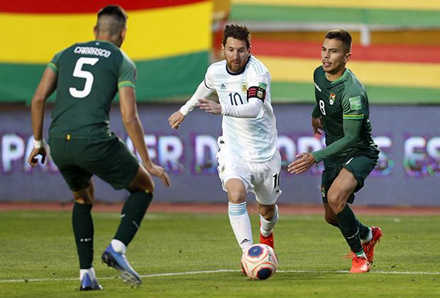 Квалификационный матч чемпионата мира-2022 между Боливией и Аргентиной