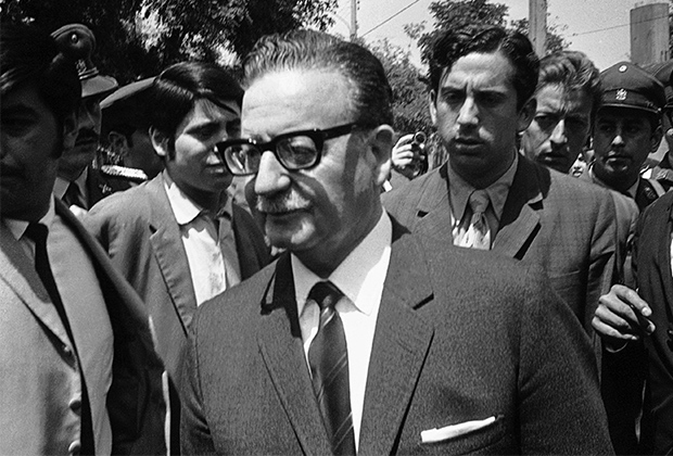 Президент Чили Сальвадор Альенде. 24 октября 1970 года
