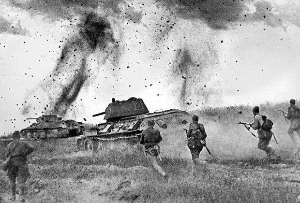 Курская дуга. Атака соединений 5-й гвардейской танковой армии в районе Прохоровки