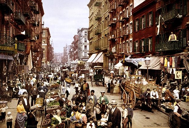 Мигранты в Нью-Йорке, начало 1900-х годов