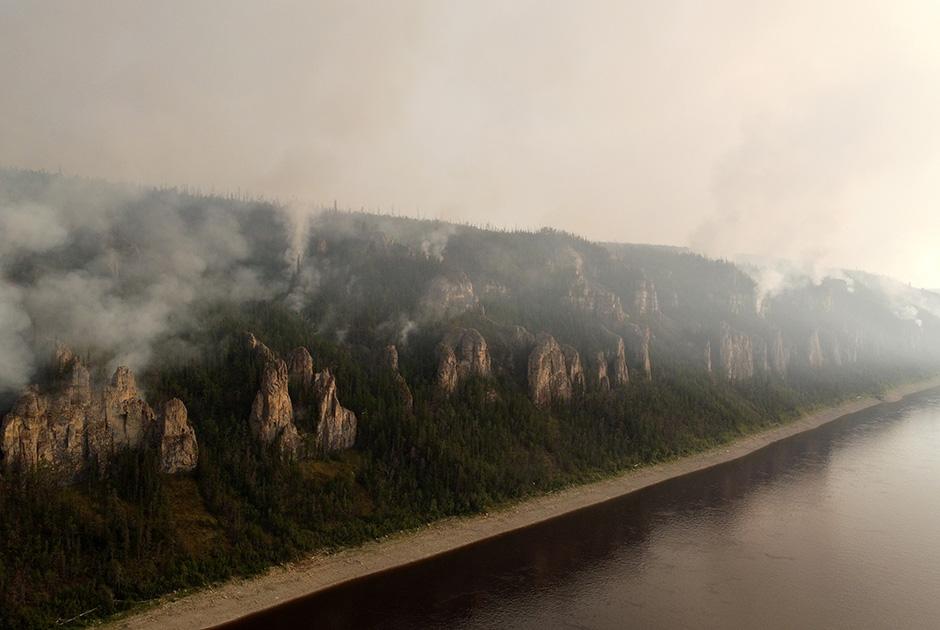 Пожар в районе национального парка «Ленские столбы»