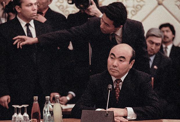 Аскар Акаев, 1991 год