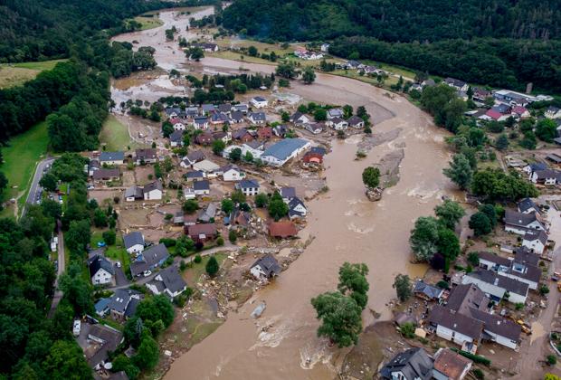 Наводнение в Германии, вызванное изменением климата