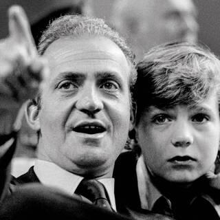 Хуан Карлос и его сын Филипп