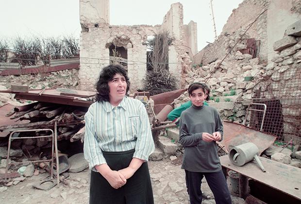 Город Шуша после ожесточенного боя, 1992 год