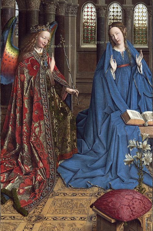 Картина Яна ван Эйка «Благовещение». Продана в 1930 году. Сейчас находится в Национальной галерее искусства в Вашингтоне (США)