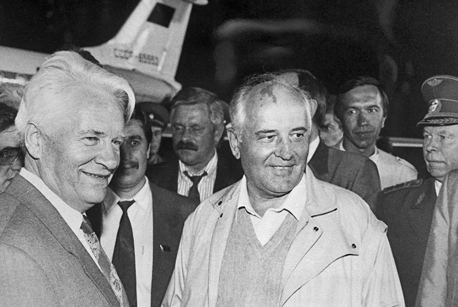 Горбачев после возвращения в Москву из Фороса, август 1991 года