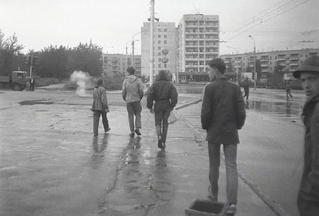 Миасс, проспект Автозаводцев. 1991 год