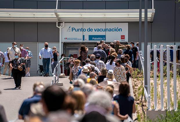 Очередь на вакцинацию в Испании
