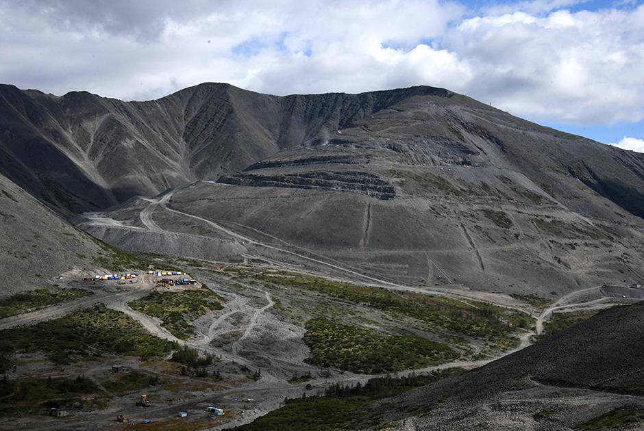 Участок карьера Западный в Забайкальском крае, на котором ведется добыча Удоканского горно-металлургического комбината