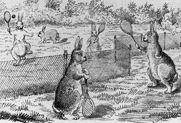 Карикатура из австралийской газеты. 1884 год