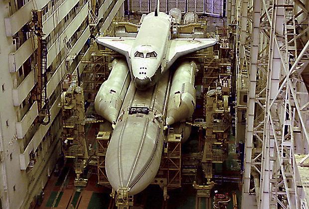 Состояние единственного «Бурана», побывавшего в космосе, в 1991 году