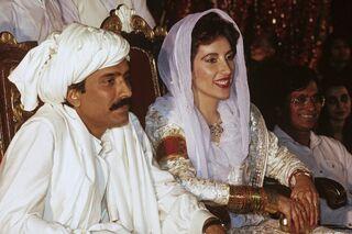 Асиф Али Зардари и Беназир Бхутто