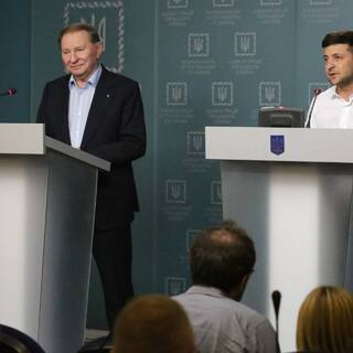 Леонид Кучма и Владимир Зеленский