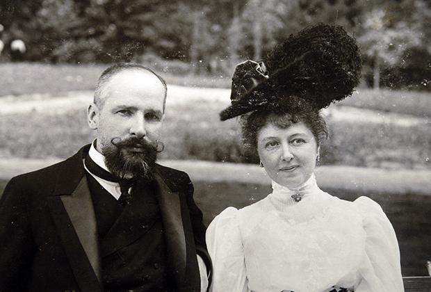 Столыпин с женой Ольгой, 1906 год