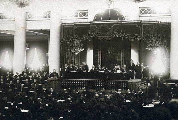 Столыпин на трибуне II Государственной думы в марте 1907 года