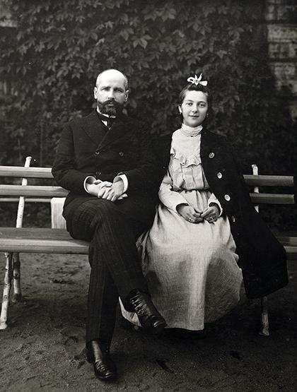 Столыпин с дочерью Натальей, 1908 год