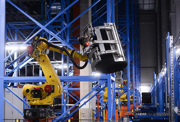 Автоматизированный высотный склад готовой продукции на предприятии «Нокиан Тайерс» в Ленобласти