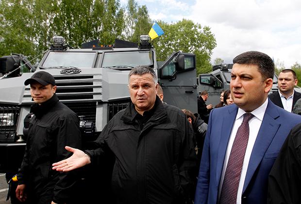 Арсен Аваков и бывший премьер-министр Украины Владимир Гройсман