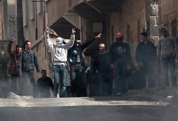 Протестующие в сирийской провинции Даръа