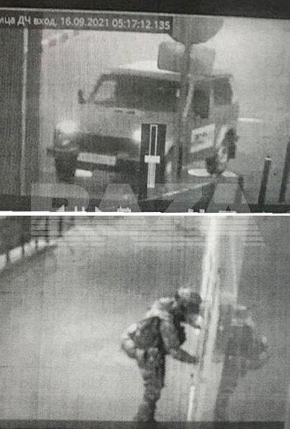 Нападавший и его машина: кадр с камеры наблюдения