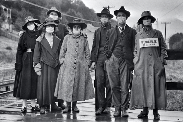 A group in Mill Valley in November, 1918