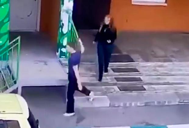 Сергей Устюгов и Татьяна Никитина в момент побега