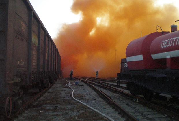 Ликвидация утечки брома в Челябинске