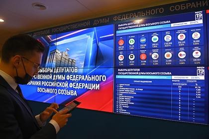ЦИК показал результаты выборов в Госдуму после обработки 40 процентов протоколов