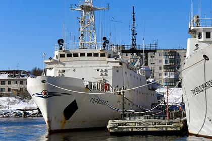 Судно Северного флота уточнило границы России в Арктике