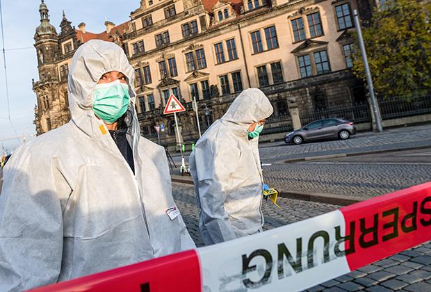 Полиция ищет следы похитителей возле бывшего королевского замка в Дрездене