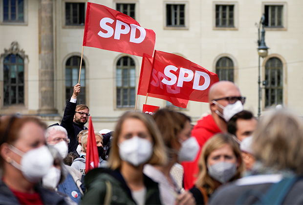 Акция в поддержку Социал-демократической партии Германии