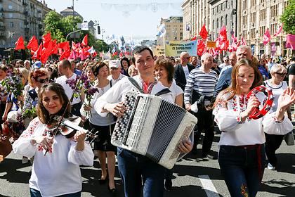 Первомайский митинг в центре Киева