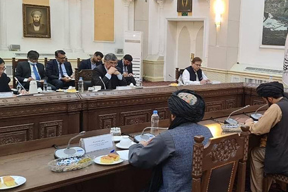 Опубликованы фото со встречи представителей России и талибов