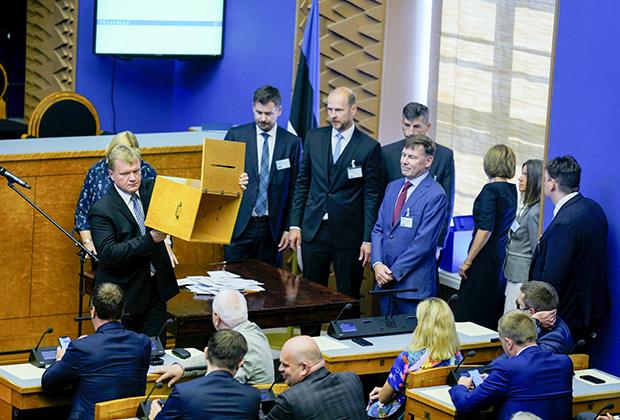 Голосование в эстонском парламенте