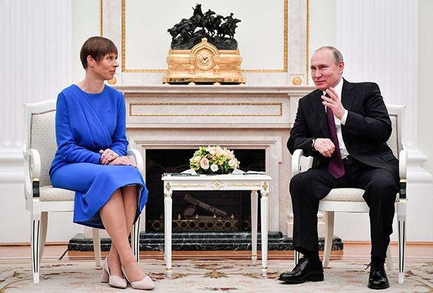 Керсти Кальюлайд и Владимир Путин в Кремле