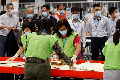 Оппозиция в Гонконге получила лишь одно из 1,5 тысячи мест в коллегии выборщиков