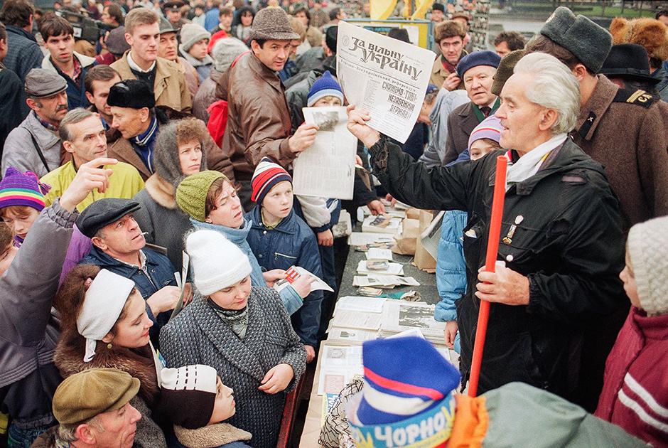 Агитация накануне референдума о независимости, Киев