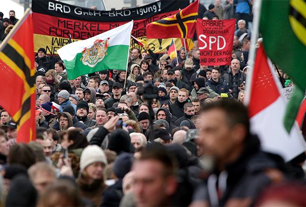 Протесты против миграционной политики правительства Германии, Берлин, 2016 год